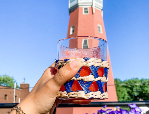 Frozen rose cocktail, strawberry froze, Portland Maine cocktails, Portland Maine observatory, Munjoy Hill observatory, Munjoy Hill Portland Maine, Stripes by the Sea