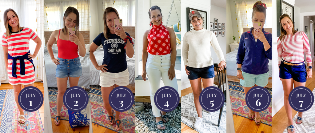 red white and blue fashion, red white and blue outfit, red white and blue challenge, preppy summer outfits, preppy outfits,